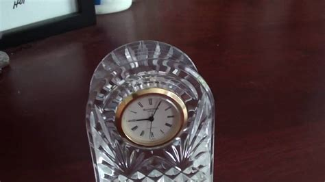 Waterford Crystal Clock - YouTube