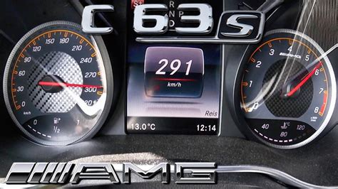 Mercedes C63 S AMG ACCELERATION & TOP SPEED 0-291 KM/H by