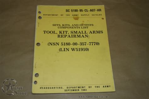 SC 5180-95-CL-A07-HR Tool Kit Small Arms - us-army