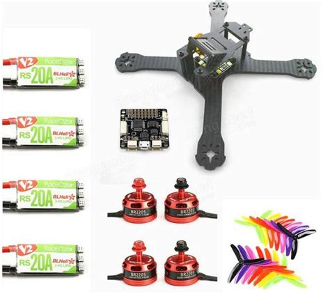 Quadcopter frame and lipo battery and motor and propeller