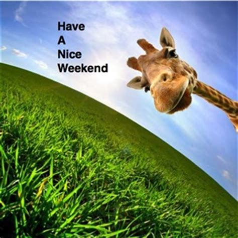 wish you all a nice weekend