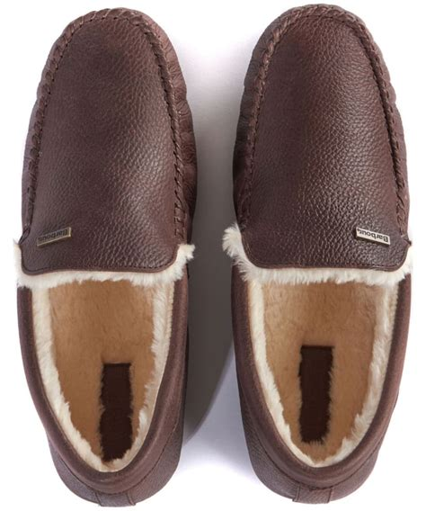 Men's Barbour Monty Leather House Slippers