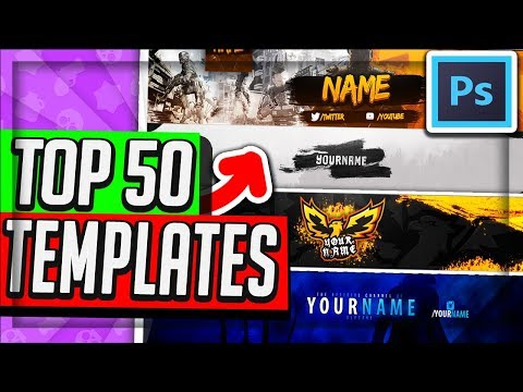 YouTube Banner Template PSD Free Download - Cool Purple