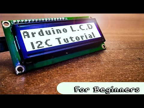 How to Use Arduino I2C Serial LCD 16x2 (Yellow Backlight