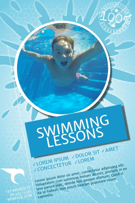 Swimming Lessons Flyer Template | PosterMyWall