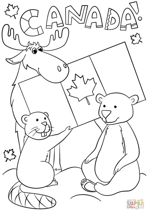 Canada Day coloring page | Free Printable Coloring Pages