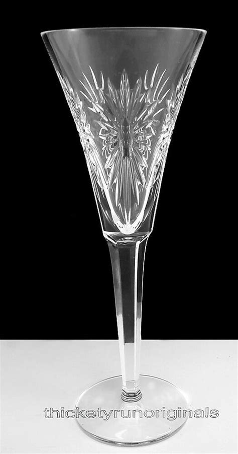 WATERFORD Crystal TWO (2) MILLENIUM TOASTING FLUTES HEALTH