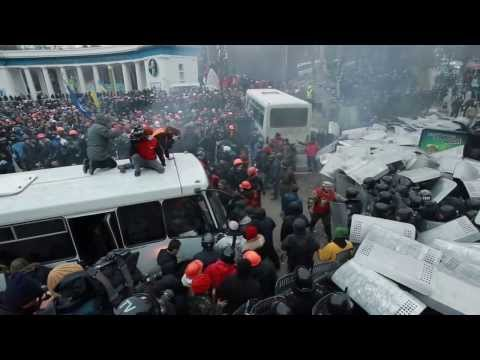 Ukrainian right-wing groups stage anti-government rally in