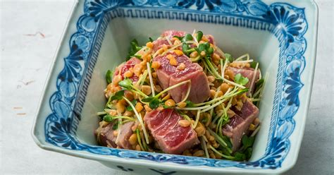 Tuna with Natto(Fermented Soy Beans) | recipes | Dining