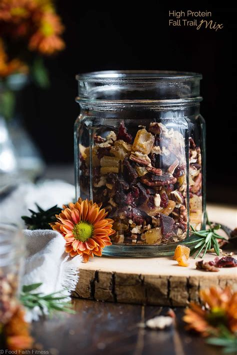 Fall Trail Mix Recipe with Protein | Food Faith Fitness